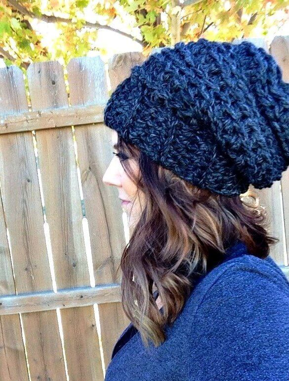 An easy and quick slouchy hat crochet pattern that's perfect for beginners. You can make this crochet hat pattern in 1 hour. Thank You chunky yarn!