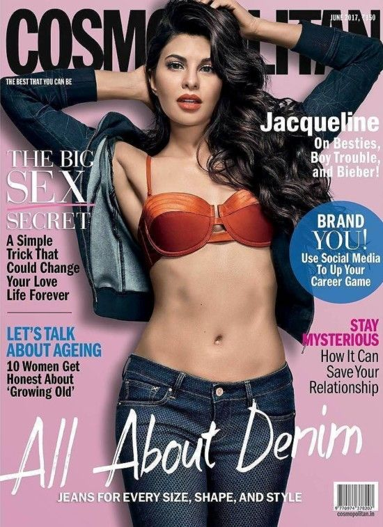 bollywoodmirchitadka: Jacqueline Fernandez Features on The Cover of Cosm...