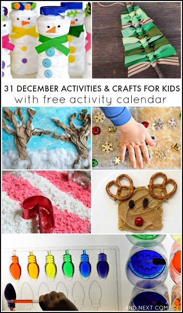 free crafts for kids 31 december activities for free activity calendar 4507