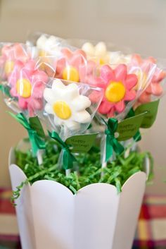 chocolate flower lollipops - Google Search