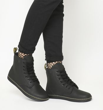 Dr. Martens, Eclectic Shoreditch 7 Eye Boots, Black Leather