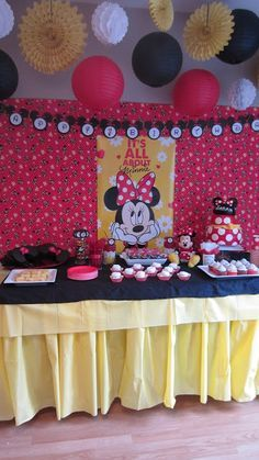 Minnie mouse birthday party ideas changed to Mickey Mouse though