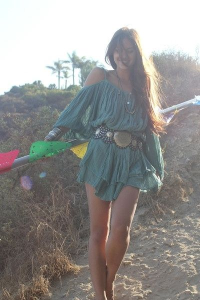 ☯☮ॐ American Hippie Bohemian Style ~ Boho . . Dress and Belt!
