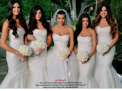 Kim Kardashian Bridal Bouquet They All Carried Bouquets Made Up Entirely Of White Roses