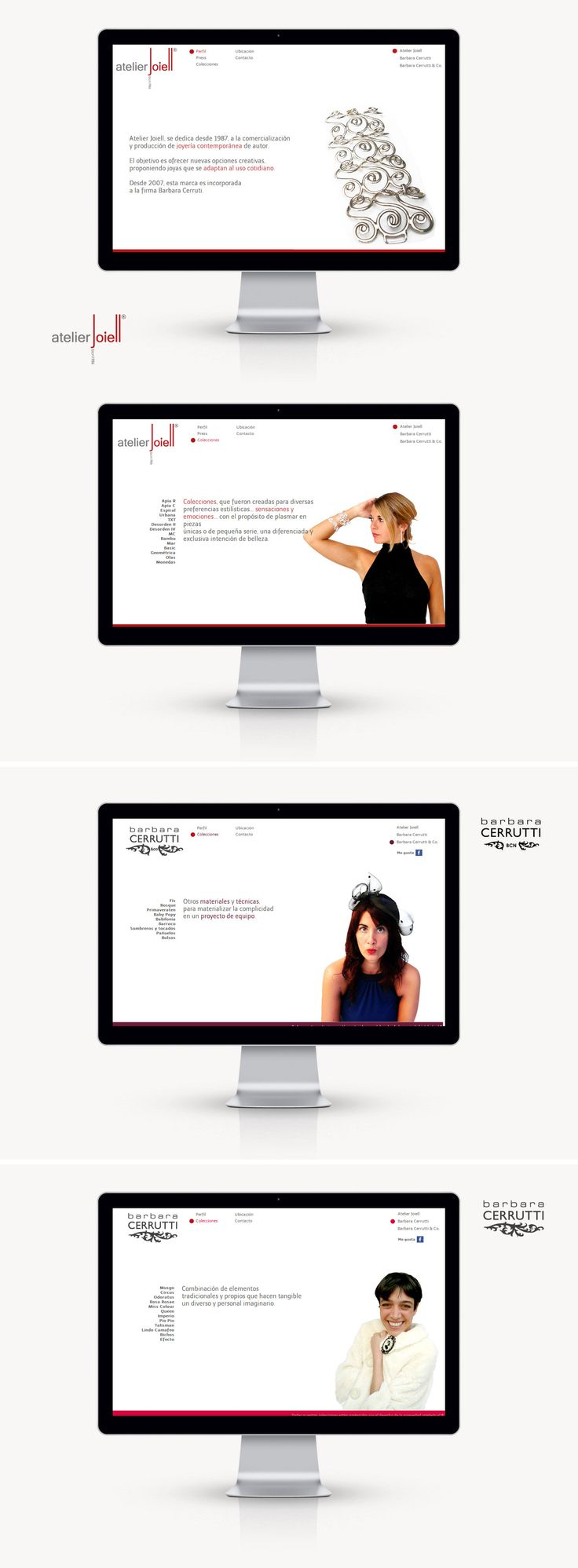 Atelier Joiell llego a DOMO con la necesidad de integrar sus múltiples facetas de colecciones de joyería en un sólo Sitio Web, que reflejara su esencia creativa. A su vez, también necesitó, el diseño de dos nuevas marcas de joyas y sus sitios, pero que ellos sean parte también de Joiell.