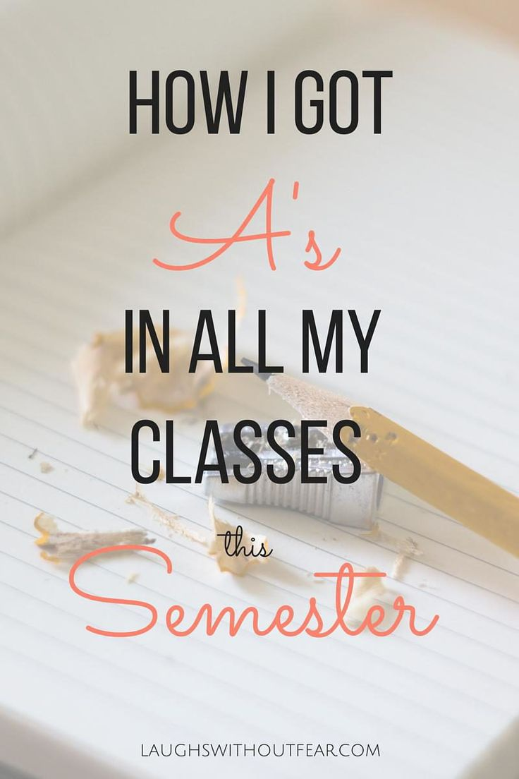 There are lots of different ways to succeed in college, but I'm pretty sure most students like having a good GPA. This semester I got A's in all my classes and I would like to share some of the main reasons for my success. Of course there isn't one way to get a good grade in a class, but perhaps these methods will work for you as well!