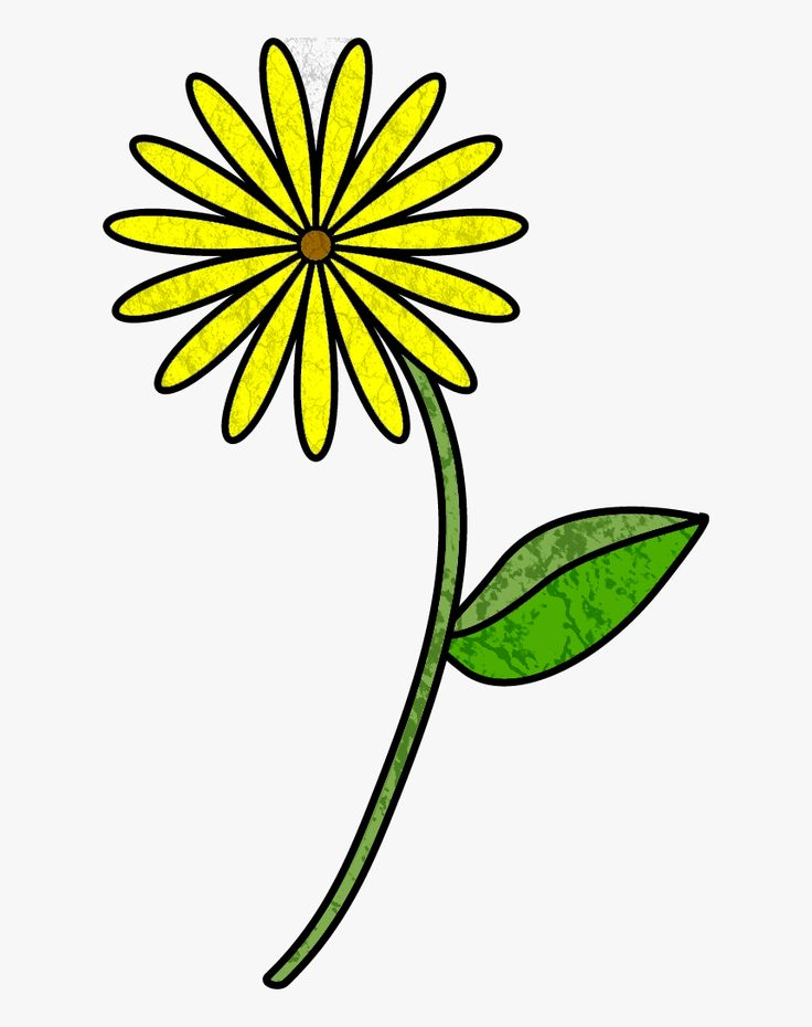 Cartoon Flower With Stem Clipart Png Download Flowers Drawing With Stem Transparent Png Cartoon Flowers Flower Drawing Clip Art