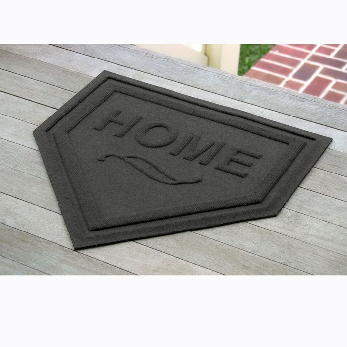 Home Plate Door Mat...love it.  It's all about Softball at our house!  Cool idea