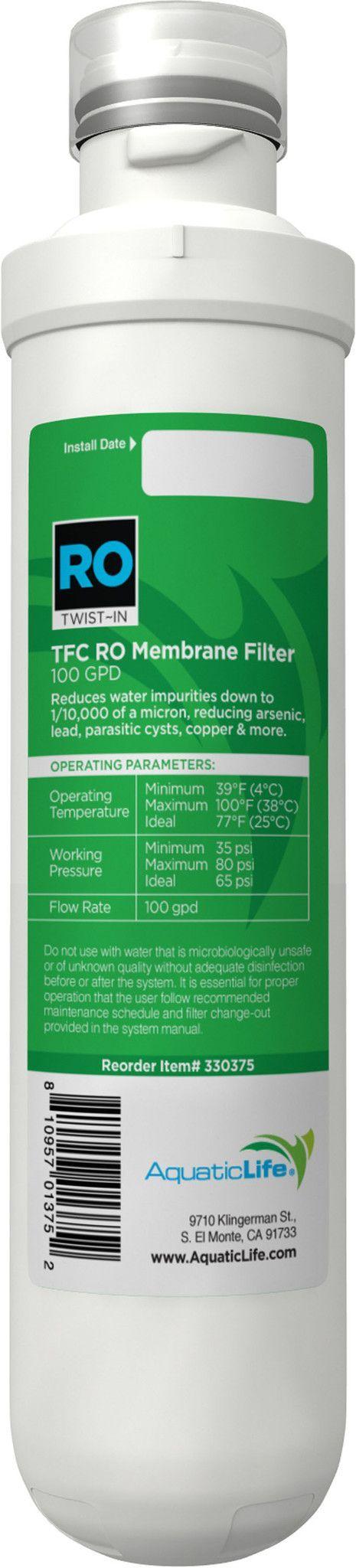 Twist-in Ro Membrane Filter
