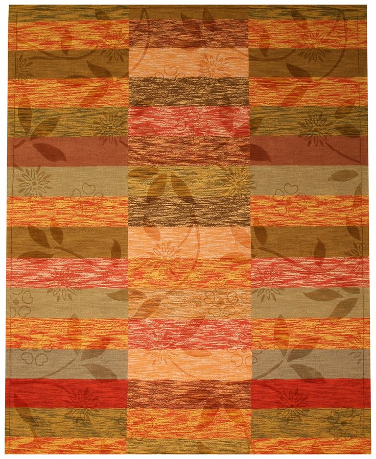 EORC HL3RT Rust Hand Tufted Wool Rustica Rug