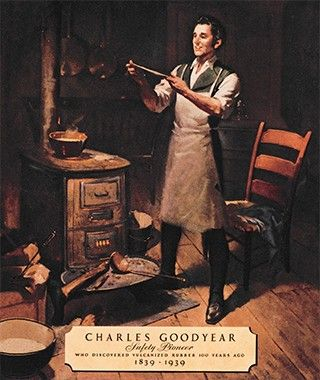 Charles Goodyear invented rubber vulcanization. patented 1839