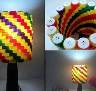 Como hacer un velador con tapitas de plástico | Manualidades de hogar