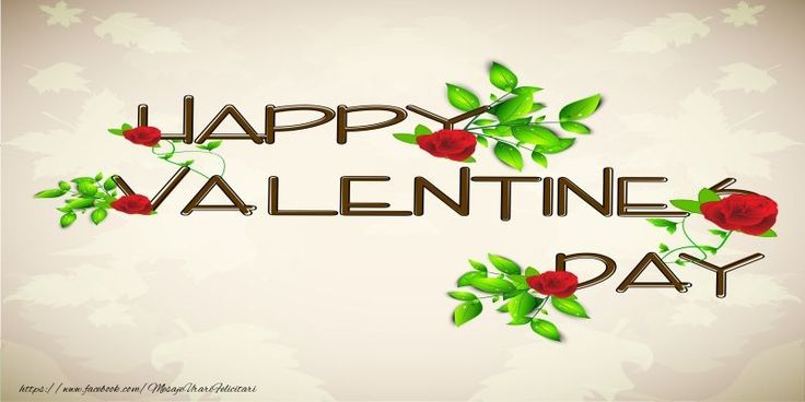 Happy Valentine's Day! I love you! 14 February