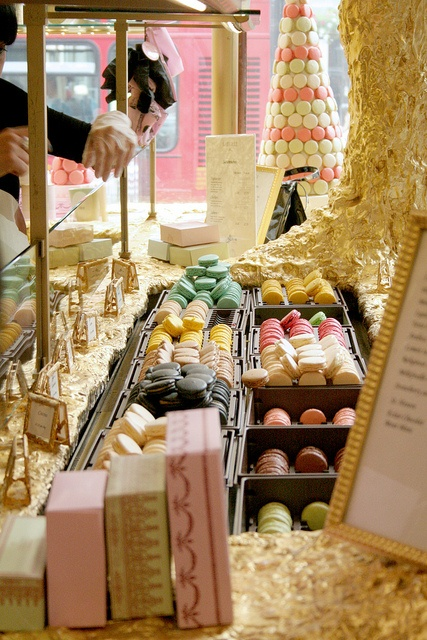 Ladurée. Macaron/tea/coffee parlor modeled after the Laduree in Paris. Burlington Arcade and another on Brompton Rd.