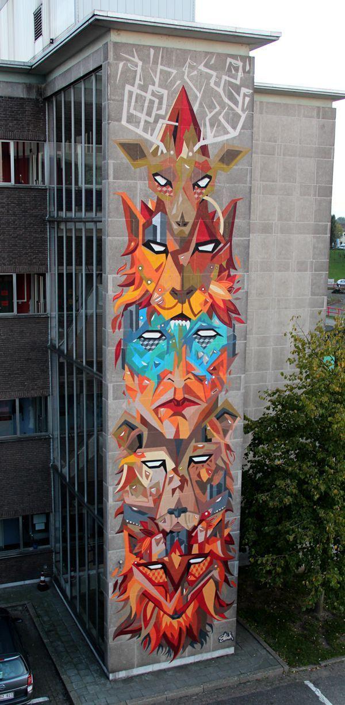 136 best arte mural images on pinterest urban art for Examples of mural painting