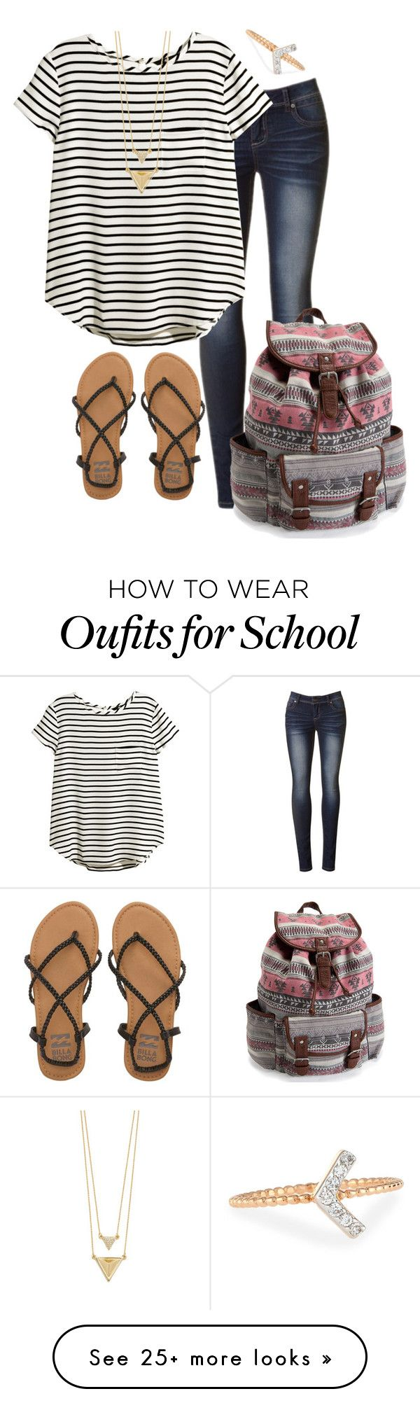 """School"" by rachel-danca on Polyvore featuring H&M, Billabong, House of Harlow 1960, Kismet by Milka and Aéropostale"