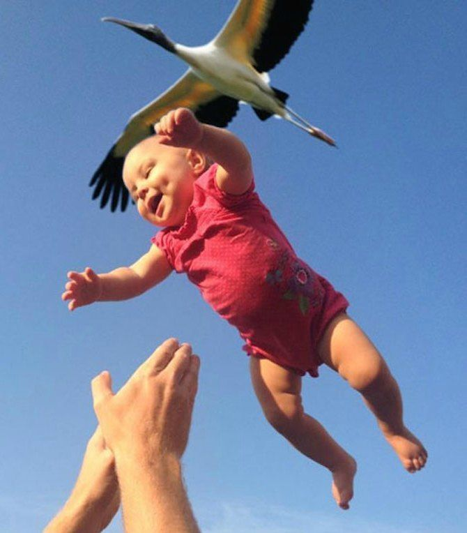 Perfectly Timed - Storks DO Deliver Babies