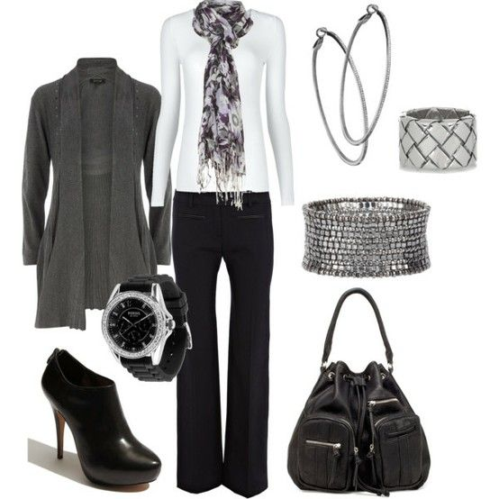 wear to work: Women S, Fashion, Style, Wear To Work, Black White Grey, Work Wear, Work Outfits, Business Casual, Fall Winter