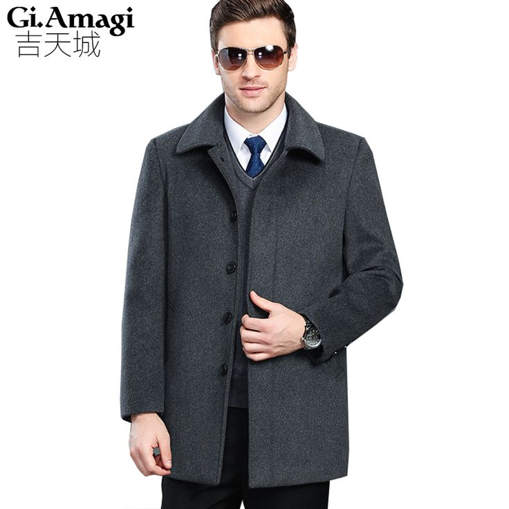 ==> [Free Shipping] Buy Best Male Large Size High-grade Cashmere Coats Thickening Middle Age Men's Long Section Cashmere Wool Coat Autumn Winter Jacket Online with LOWEST Price | 32814615846