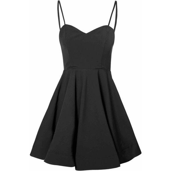 Black Full Skirt Dress (£32) ❤ liked on Polyvore featuring dresses, black, black dress, sweetheart neckline dress, cocktail party dress, black party dresses and full skirt