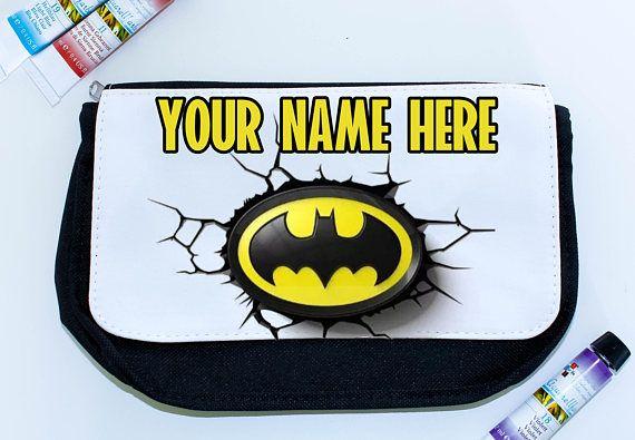 Super Hero personalised pencil case  Batman back to school