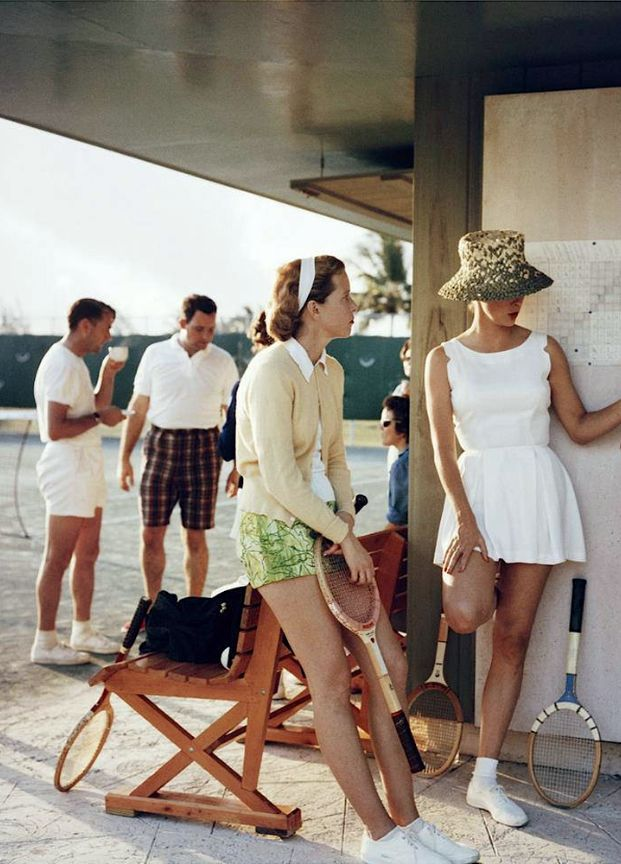 Tennis in the Bahamas, 1957. Photo: Slim Aarons.