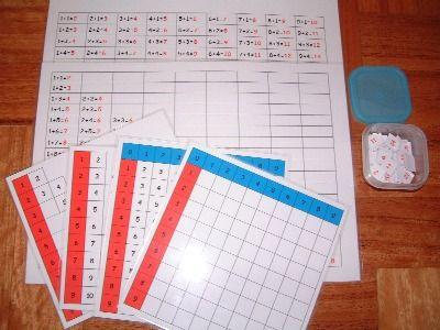 Many great DIY Montessori Math Ideas