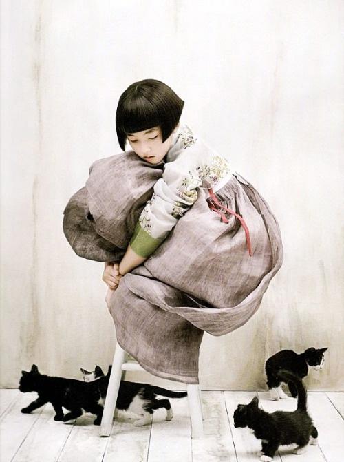korean hanbok from a photoshoot for vogue korea