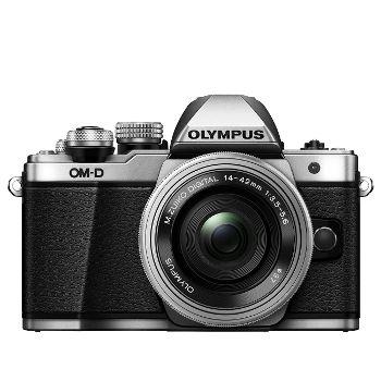 Appareil photo hybride avec objectif Olympus OM-D E-M10 Mark II Silver + 14-42 EZ Pancake