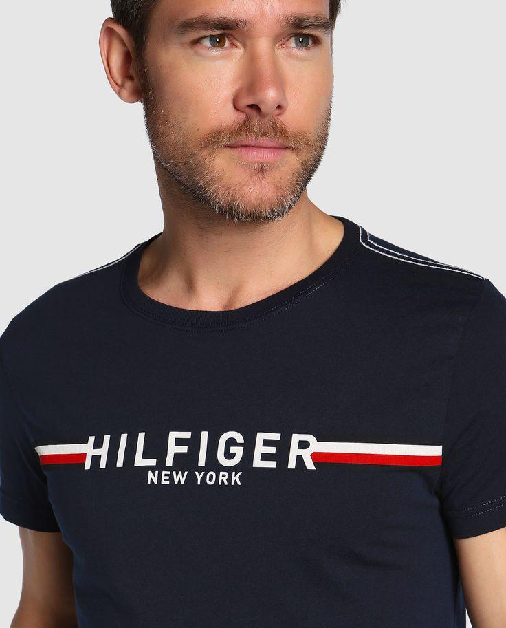 Camiseta de hombre Tommy Hilfiger azul de manga corta · Tommy Hilfiger · Moda · El Corte Inglés
