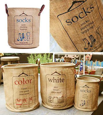 done/ Корзина для белья Laundry Basket - Socks