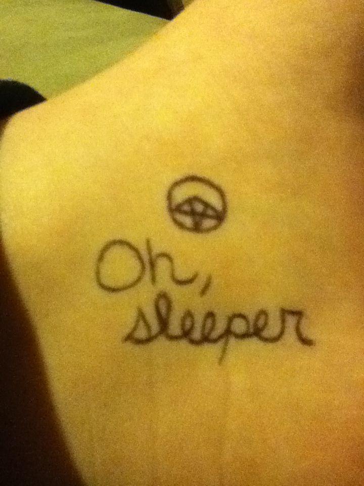 Just drew that lol  Cool tattoo idea Oh Sleeper Tattoos