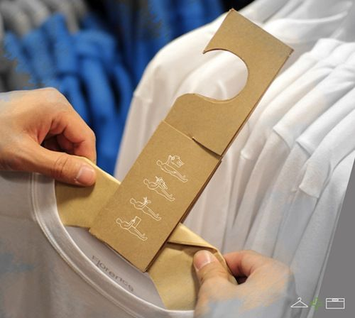 A Paper Bag That Transforms Into A Clothes Hanger, Origami Style //