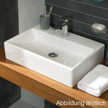 Villeroy & Boch Memento Aufsatzwaschtisch weiß mit CeramicPlus, 1 Hahnloch mit Überlauf