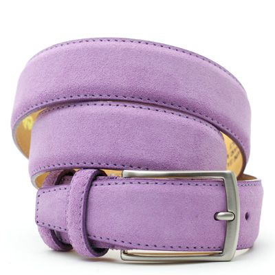 Suede riem: Bright Violet by ColorMeSocks™