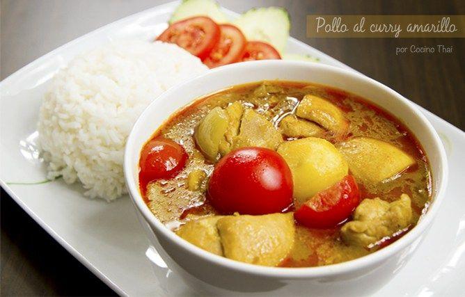 Pollo con curry amarillo ( estilo tailandés )   Cocino Thai