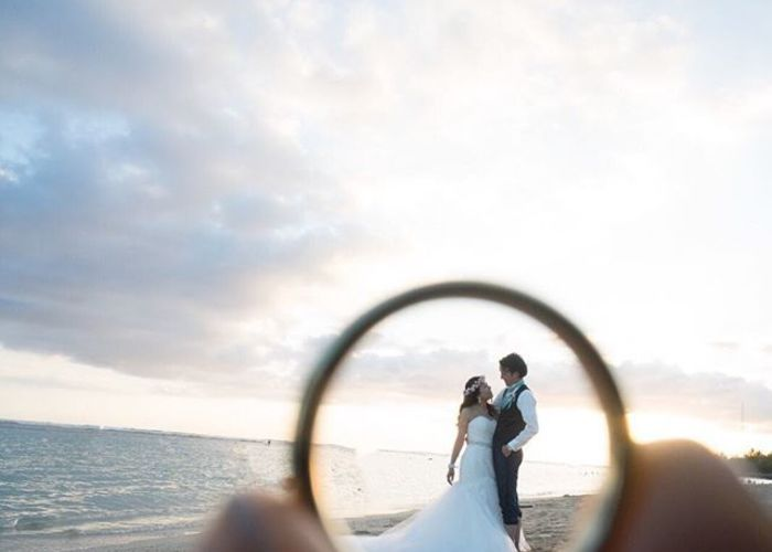 結婚指輪を使って撮るウェディングフォト・前撮りの写真撮り方
