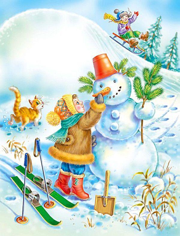 Decorating snowman..