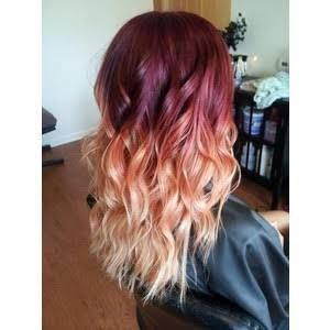 wine red hair with blonde highlights - Google Search