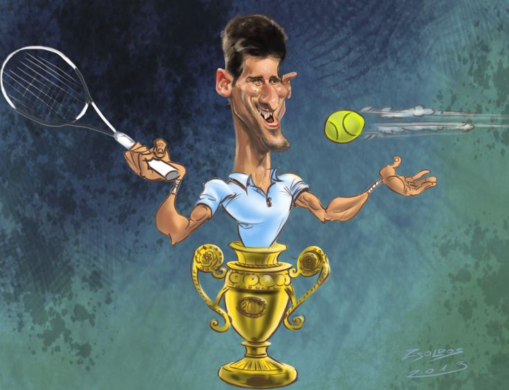 Novak Djokovic Sport Caricatures Pinterest Novak Djokovic