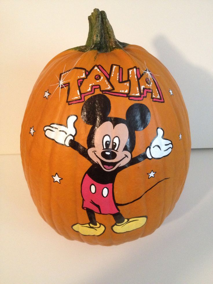 The 25 best mickey mouse pumpkin ideas on pinterest for How to paint a mickey mouse pumpkin