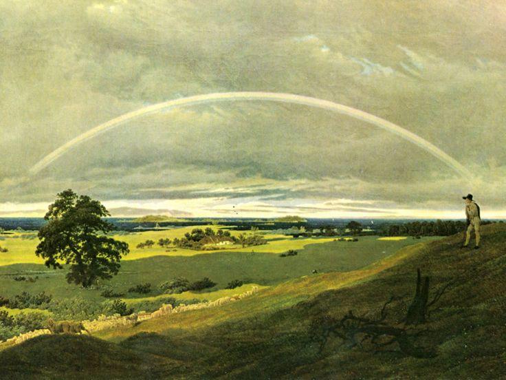 """Каспар Давид Фридрих. """"Пейзаж с радугой"""" 1809"""