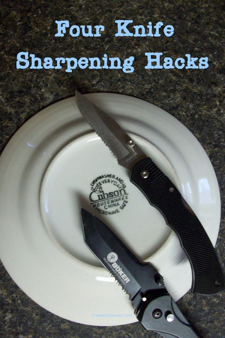 4 easy knife sharpening hacks that might surprise you. PLUS, how to get your kitchen knives professionally sharpened.