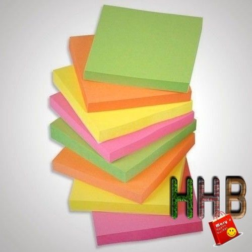 Sticky Coloured Notes Children School Post It Removable Small Papper 10 Pads Lot #StickyColouredNotes