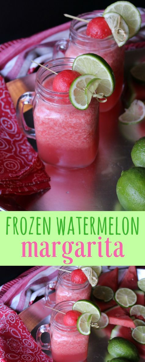 This cocktail screams summertime! Freezing the watermelon means you don't have to add much ice to this refreshing, adult only drink. It's sweet and full of watermelon flavor with a slight tang from the lime. Perfect for the beach or sipping poolside.