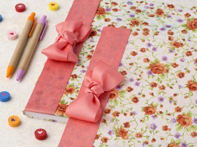 Receta de Cómo forrar cuadernos con tela y listón