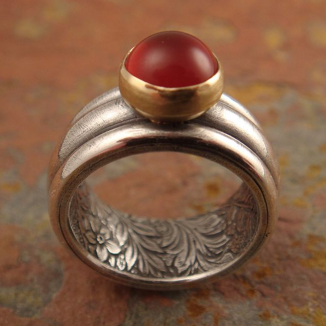 secret garden ring w/ carnelian by downtothewiredesigns, via Flickr