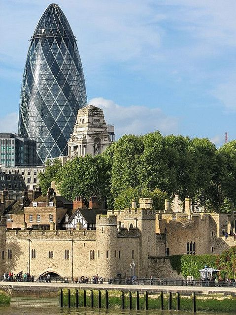 St Mary Axe building (Gherkin) Tower of London - http://vivaclean.co.uk/cleaning-services-green-park-w1v