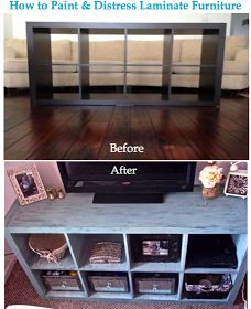 Tehra Lynn Blog: How to Paint and Distress Laminate Furniture