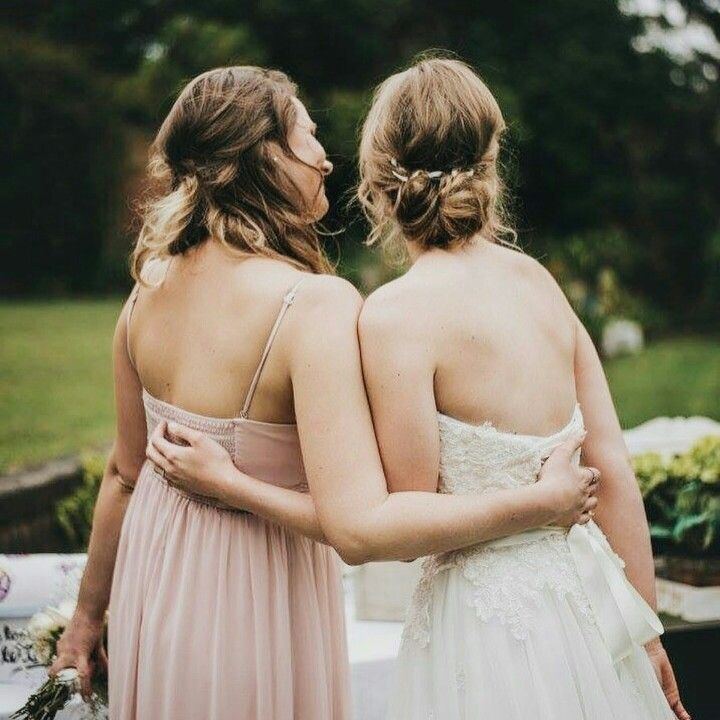 WEDDING// Real bride Sally and her sister.  Hair by @locohairnapier  Soft curled hair up . Curled half up and down. photographer @letfusphoto   #realwedding #hawkesbay #hawkesbaywedding #happyeverafter #hairup #updo #curls #weddingblogger